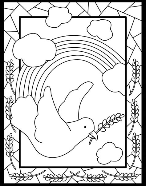 christian rainbow coloring pages inkspired musings international day of peace
