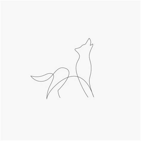 simple wolf tattoos one line wolf line tattoos