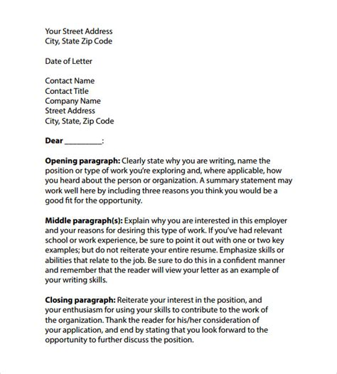 professional cover letter layout professional cover letter templates 7 sles