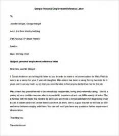 Download Letter Template Sample Personal Employment Reference Letter Template
