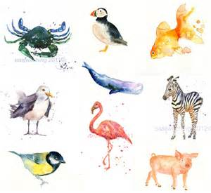 water color animals sweet watercolor paintings em for marvelous
