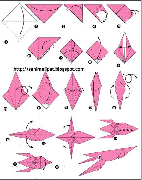 membuat origami bintang dari kertas cara membuat udang dari kertas lipat origami seni melipat