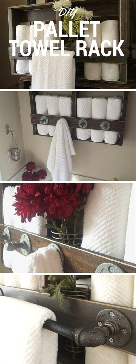 Home Decor Tutorial by Diy Pallet Towel Rack