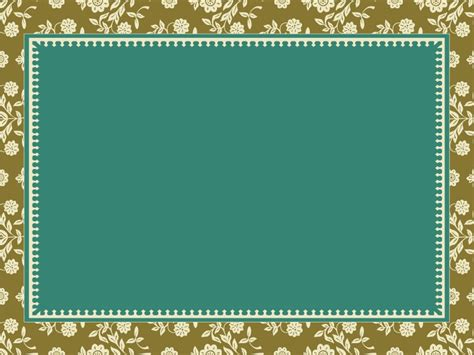 vintage frame powerpoint templates border frames floral ornament frame powerpoint templates border