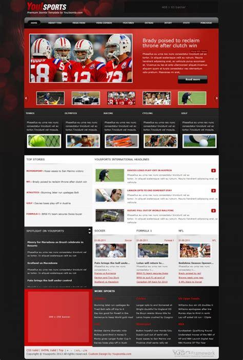 joomla sport template yousports joomla sports magazine