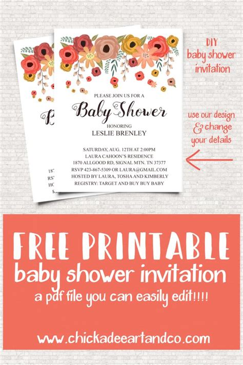 Baby Shower Invitations Printable At Home by 17 Best Ideas About Free Baby Shower Invitations On
