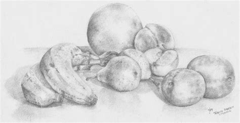 Bowl Of Fruits summer fruit drawing by trudy brodkin storace