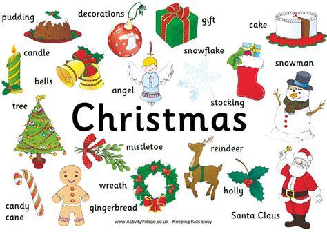 imagenes de navidad ingles vocabulario de navidad en ingl 233 s