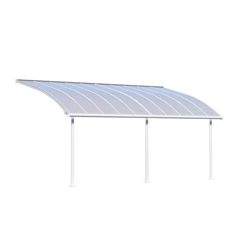 Palram Feria 10 ft. x 20 ft. Grey Patio Cover Awning