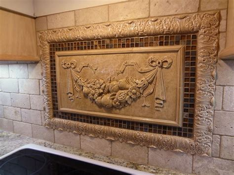 decorative backsplash kitchen medallions backsplash google search cool stuff