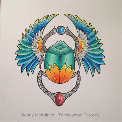 scarab beetle tattoo designs scarab design by wendy mcaninch drawing