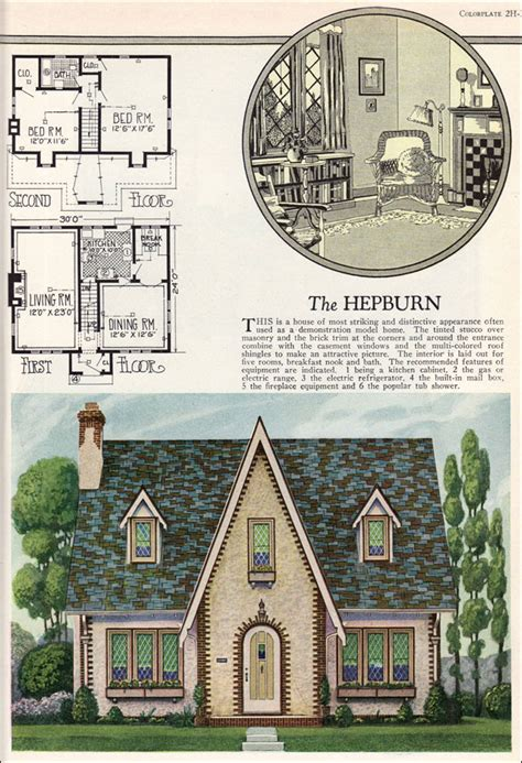 Vintage Cottage House Plans by William A Radford American Builder The Hepburn