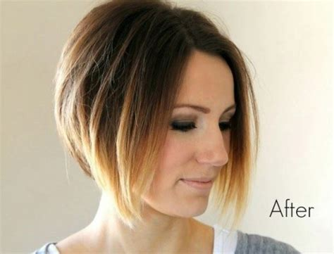 Umbre Angled Bob Hair Cuts | short ombre angled bob haircut hairstyles weekly