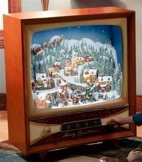 36 quot tv with christmas scene animated musical television sets