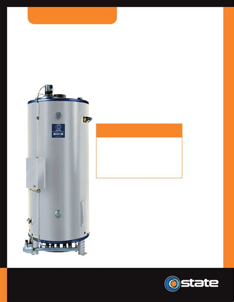 state water heaters state industries water heater sbn85 390 a user guide