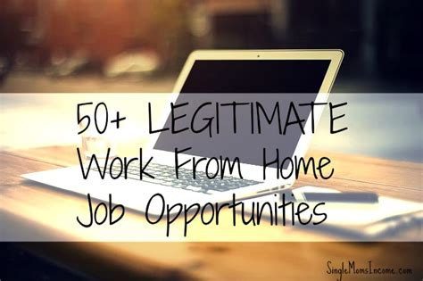 50 legitimate work from home opportunities single