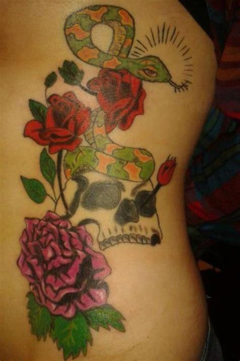 suns and roses tattoo snake sun skull rib my tattoos