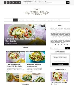 food blog blogger template blogspot templates 2018