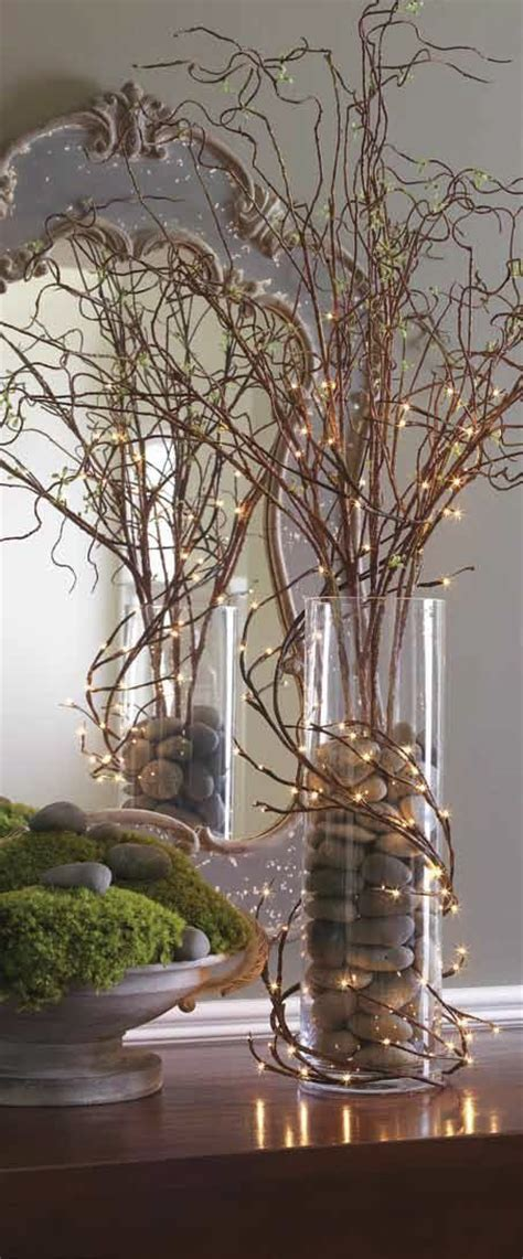lighted twigs home decorating 17 best ideas about curly willow centerpieces on