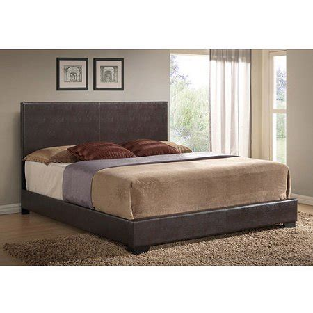 king leather bed ireland king faux leather bed brown walmart com