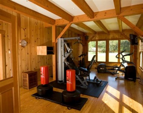 top  home gym equipment  wood elements homemydesign