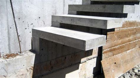 Exterior Concrete Cantilevered Stair Frontal wood stair details home design ideas and pictures