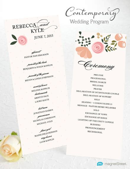 Wedding Program Wording Templates wedding program wording magnetstreet weddings