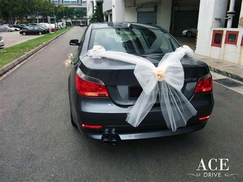 BMW 523i Saloon Wedding Car Decorations