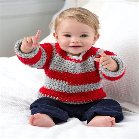 red heart knitting patterns sweaters for boy go team go baby sweater red heart