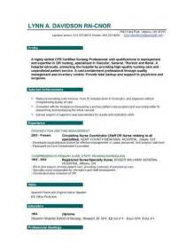 doc 500708 nursing cv template resume exles