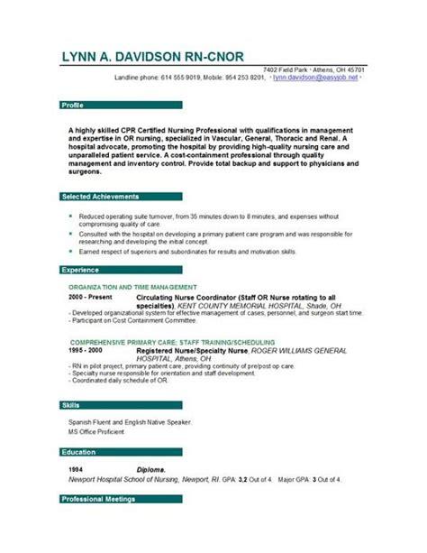 nursing resume format gse bookbinder co