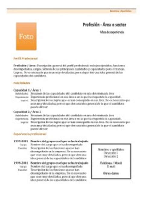 Plantillas De Curriculum Vitae Informatica Modelos De Curr 237 Culum Modelo Combinado 1 Modelo Curriculum