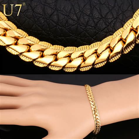 18k real gold plated bracelet with quot 18k quot st jewelry
