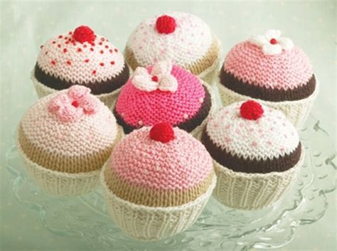 Knitted Cupcakes Seriously by Let Them Eat Cake Newspaper