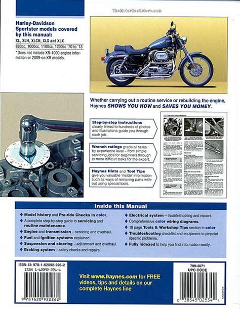 Harley Sportster 883 1000 1100 1200 Repair Manual 1970 2013