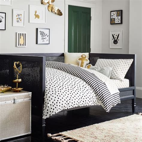 emily bedroom set the emily meritt caned daybed trundle set pbteen