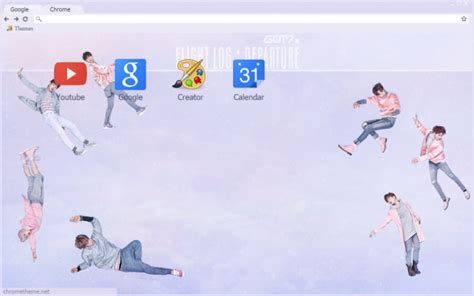 theme google chrome got7 just right got7 flight log departure chrome theme themebeta