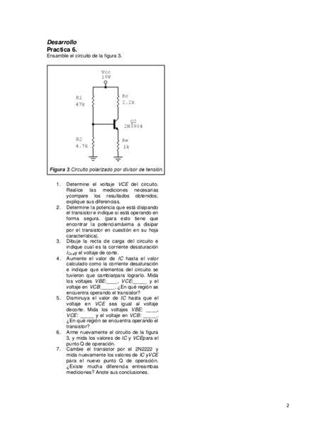 transistor bjt practica transistores bjt diferentes configuraciones 2n2222 y 2n3904 calculo