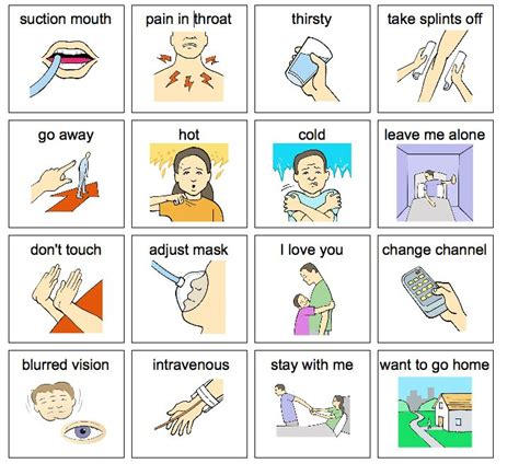 visual communication and design worksheets a few hospital communication pictures aac medical and
