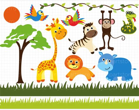 safari animals clip safari cliparts