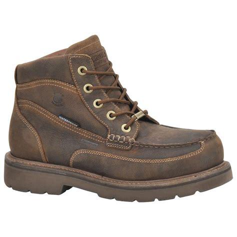 s carolina work boots s carolina 174 aluminum moc toe waterproof boots 227418