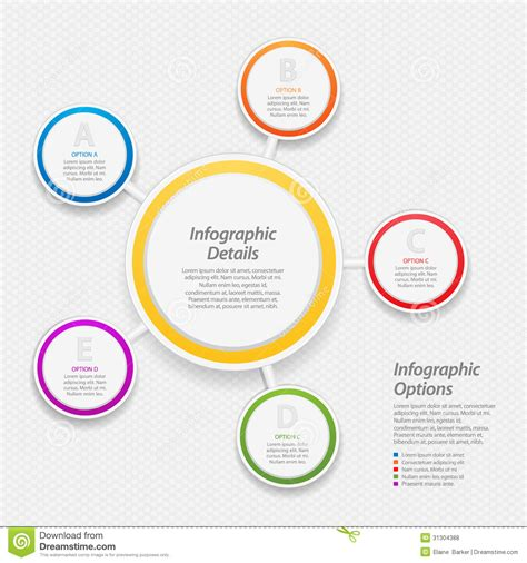 Business Cards Templates Free Download Business Card Sle Circle Infographic Template