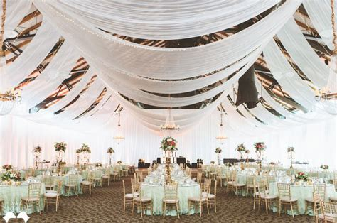 Seriously Elegant Wedding Reception Photo By Paper Ceiling Draping Fabric