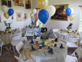 blue and gold graduation decorations lasalle graduation gold blue and