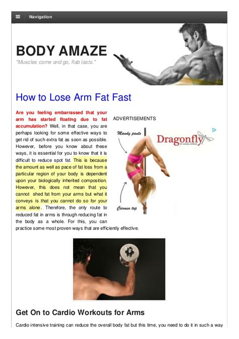 12 Tips On How To Lose Arm Fast by How To Lose Arm Fast