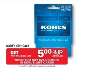Kohls Discount Gift Card - get 5 discount on a kohls gift card
