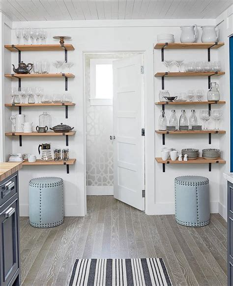 wood shelves kitchen stacked wood and cast iron kitchen shelves cottage