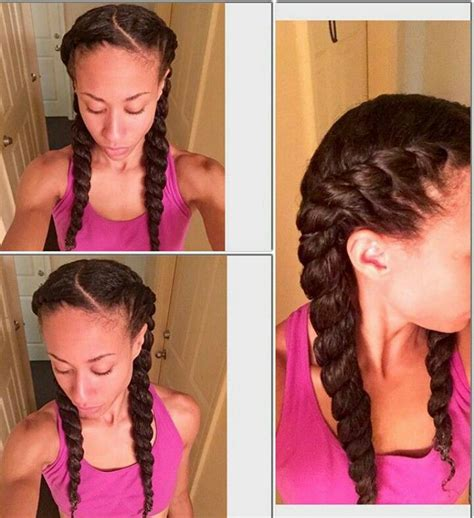 Flat Hairstyles by Chunky Flat Twists Pinteres