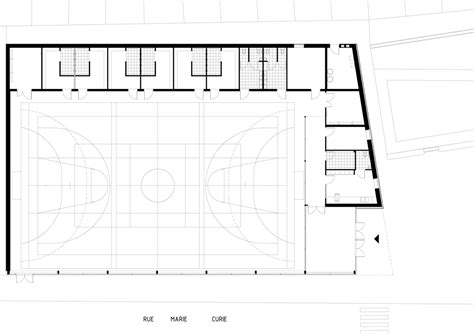 high school gymnasium floor plans parisian sports hall by ateliers o s architectes with