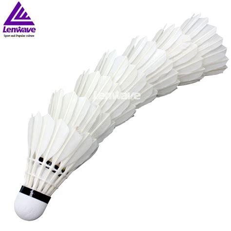 Suttlecocks Badminton Isi 12 Murah Kok Bulu Tangkis Limited aliexpress buy best price 12pcs goose feather badminton shuttlecock lenwave brand outdoor